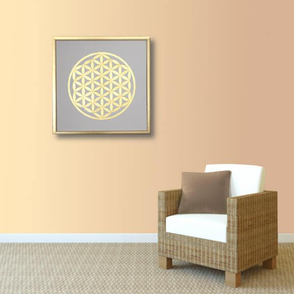 Blume des Lebens Couch Wand