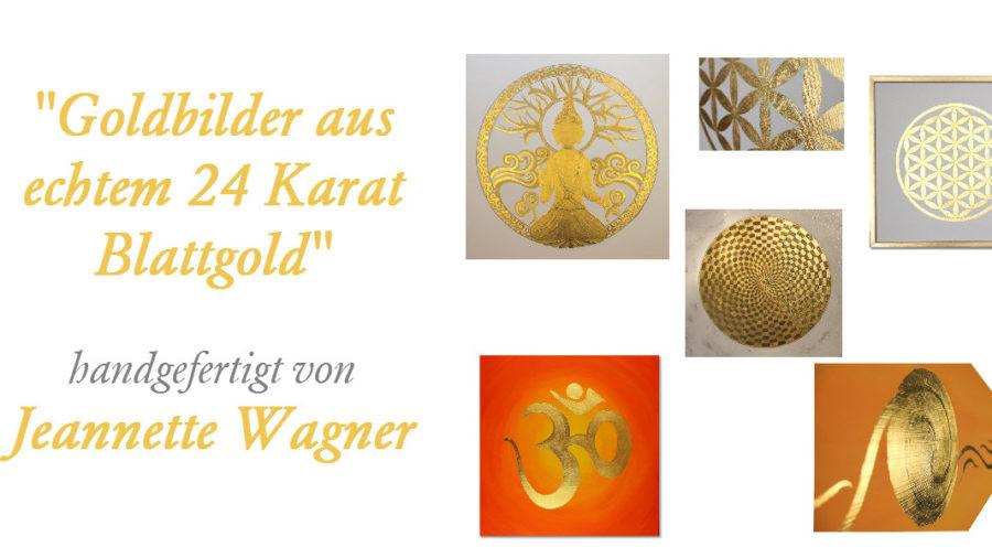 Goldbilder, Wandbild Gold, Leinwandbild Gold, Gemälde Gold