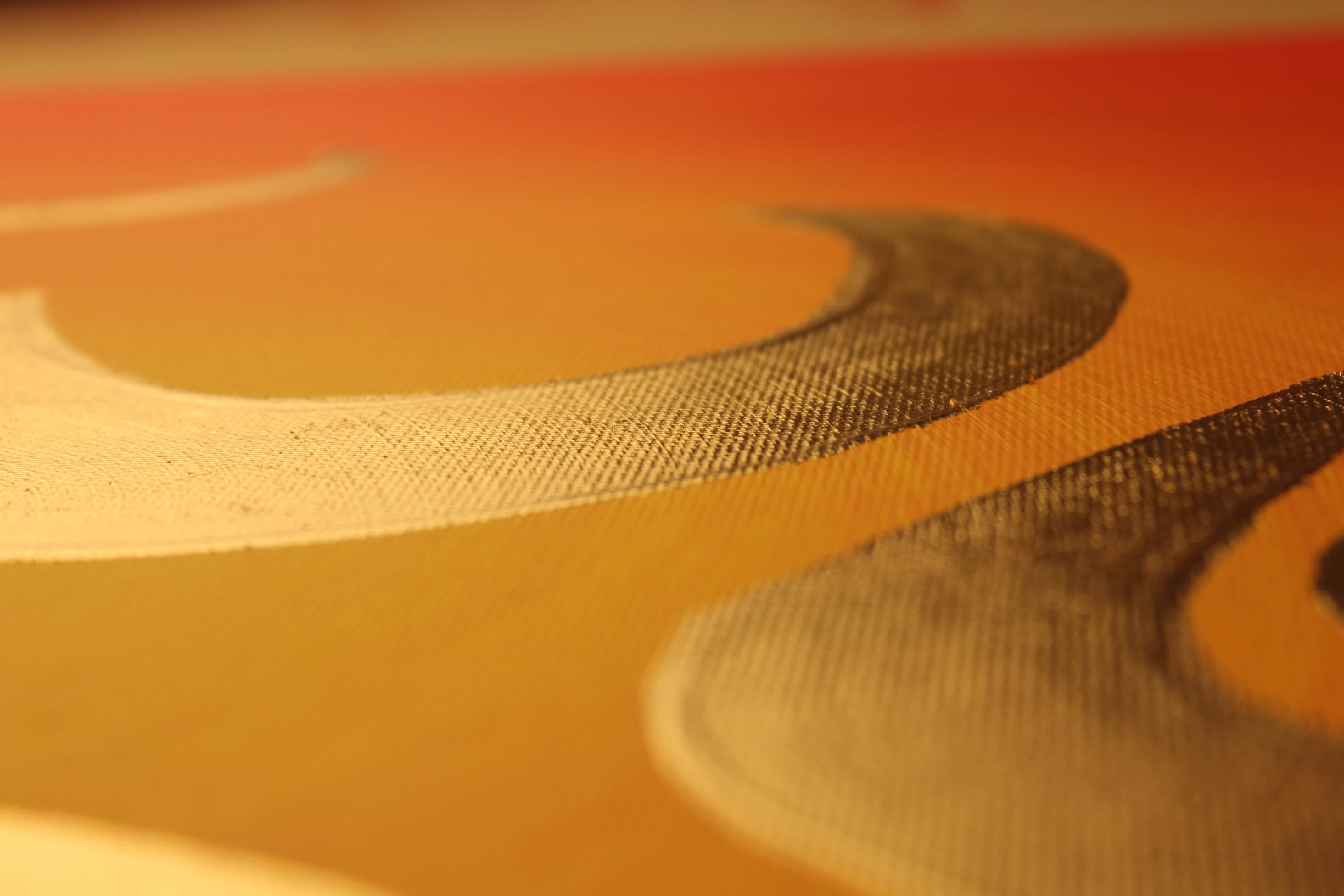 Wandbild OM Zeichen 24 Karat Blattgold Detail