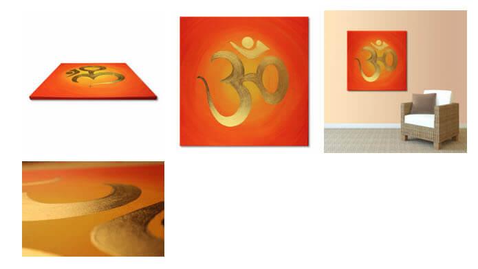 OM vergoldet 24 Karat Blattgold