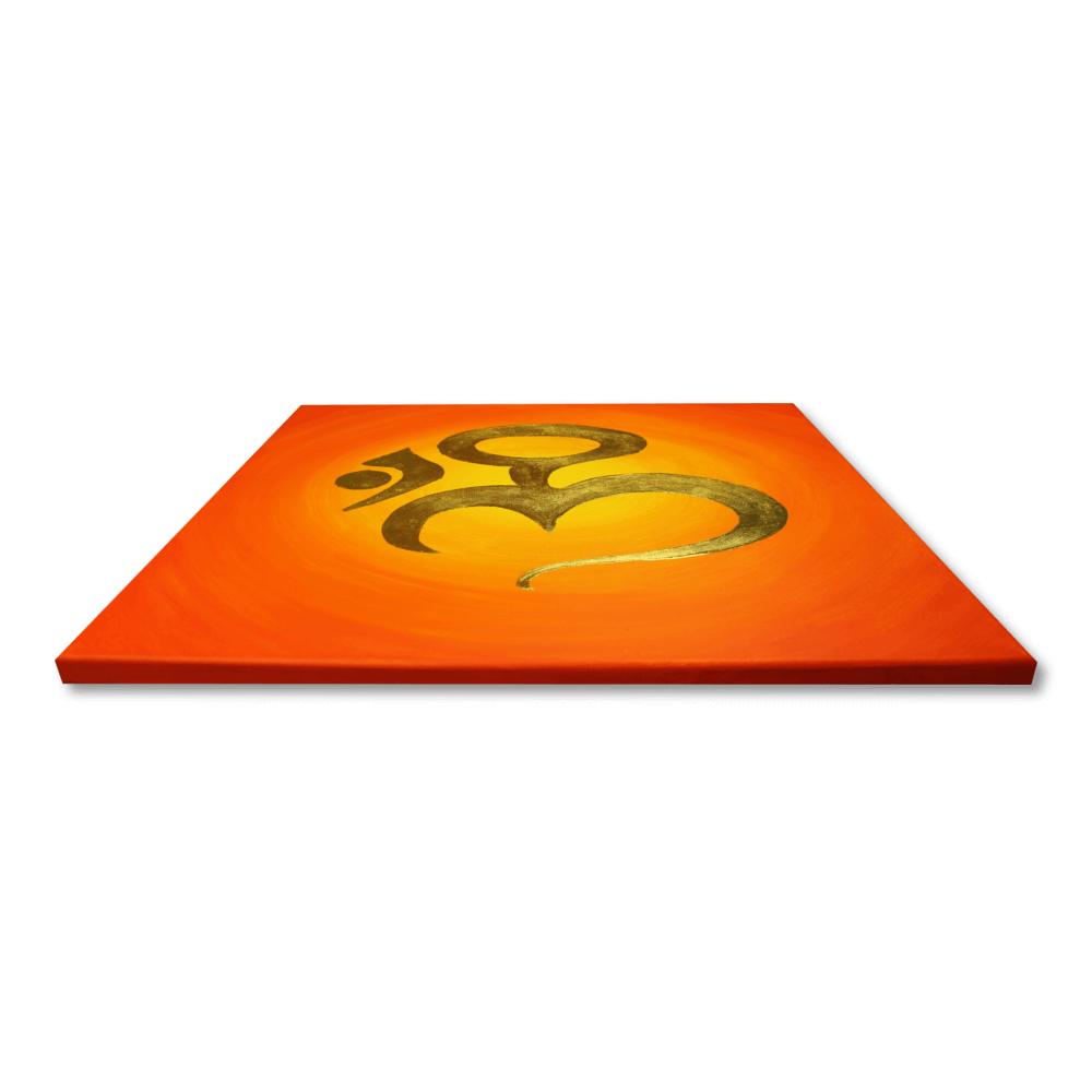 Wandbild OM Zeichen vergoldet Profil