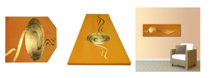 Spirale Gold 24 Karat Blattgold